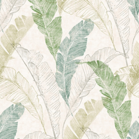Dutch Myriad behang Capri Tropical Leaf Motif MY 2204