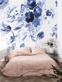 KEK Amsterdam Flora & Fauna behang Royal Blue Flowers WP-209