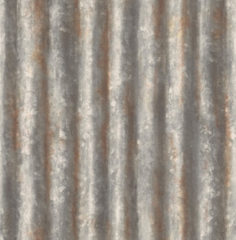 Dutch Reclaimed behang FD22333 Corrugated Metal Rust