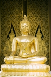 No Limits Fotobehang Buddha gold 30027