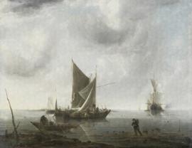 Dutch Wallcoverings Painted Memories Mural Anghored Ships 8002