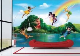 AG Design Fotobehang Disney Fairies with Rainbow FTD2222