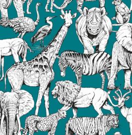 Noordwand Kids@Home Inidvidual behang Jungle Animal Vert 107692