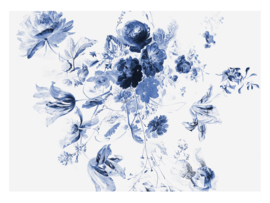 KEK Amsterdam Wonderwalls behang Royla Blue Flowers III WP-225