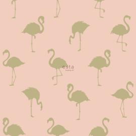 Esta Home Jungle Fever behang Flamingo's 138994