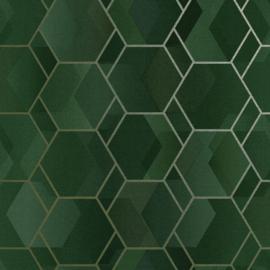 Dutch First Class Amazonia behang Cassius Green Gold 91280