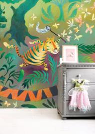 KEK Amsterdam Kids mural Alice Hoogstad Hunting Tiger WS-080