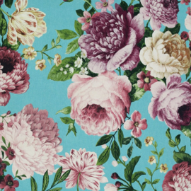 Arthouse behang Tapestry Floral Teal/Pink 297304