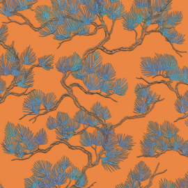 Dutch Wall Fabric behang Pine Tree WF121016