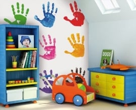 Little Ones Fotobehang Hand Prints 415014