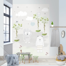 Behangexpresse Kay & Liv Wallprint Bears & Lions INK 7011