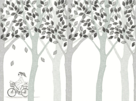 Eijffinger Wallpower Junior 364197 Bike, Leaf, Tree