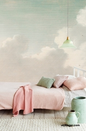 Eijffinger Masterpiece Wallpower 358121 Dutch Sky Stripes jade