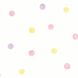 Dutch Over the Rainbow behang Watercolour Polka Dots 91000