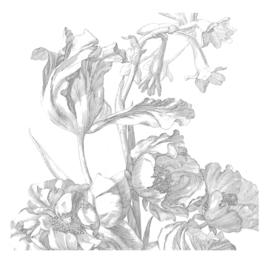 KEK Amsterdam Wonderwalls behang Engraved Flowers I WP-331