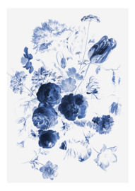KEK Amsterdam Flora & Fauna behang Royal Blue Flowers WP-207