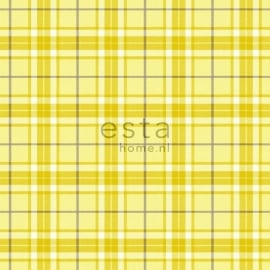 Esta Home Denim & Co. checks yellow 137729