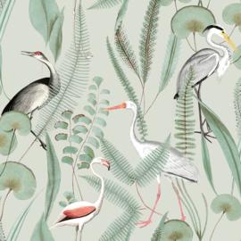 Dutch Eden behang Flamingo M37404
