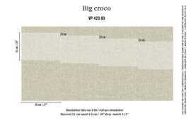 Élitis Anguille Big Croco Galuchat Big Croco behang VP 42303