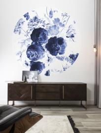 KEK Amsterdam Flora & Fauna behangcirkel Royal Blue Flowers CK-001