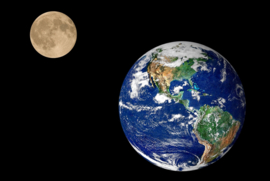 Papermoon Fotobehang Vlies Maan en aarde 18316