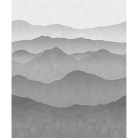 Esta Home Black & White - with a splash of gold behang PhotowallXL Wall Gradient Mountains 158939