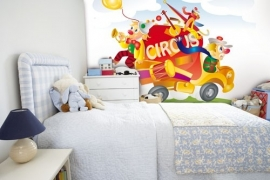 Little Ones Fotobehang Circus Truck 418020