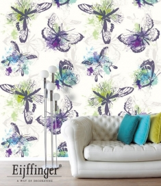Eijffinger Wallpower Wanted Aquarel Butterflies 301635