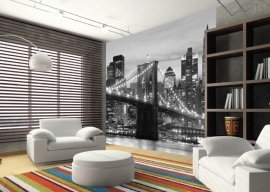 AG Design Fotobehang Brooklyn Bridge FTS0199