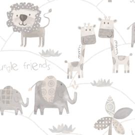 Noordwand Just 4 Kids 2 behang Jungle Friends G56505