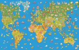 XXL Wallpaper World Map 0351-7