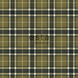 Esta Home Denim & Co. checks army green 137730