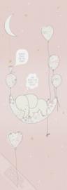 Behangexpresse Sofie & Junar Wallprint Elephant in the Room Pink INK7625