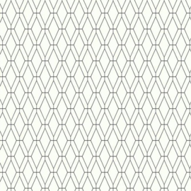 York Wallcoverings Ashford Whites behang SW7518 Diamond Lattice