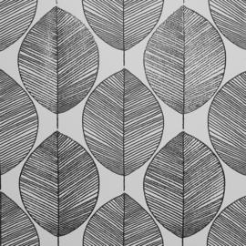 Arthouse Scandi Leaf Black & White behang 698402
