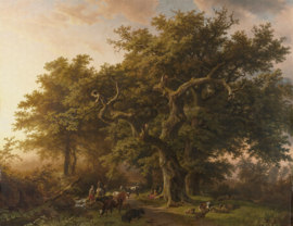 Dutch Wallcoverings Painted Memories Mural Forest 8010