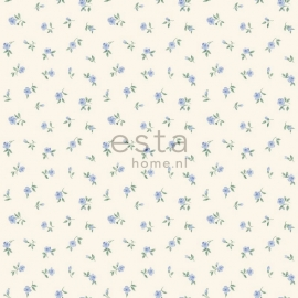 Esta Home Denim & Co. little roses soft blue 137703