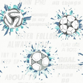 York Wallcoverings A Perfect World behang KI 0577 Soccer Ball Blast