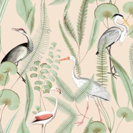 Dutch Eden behang Flamingo M37403