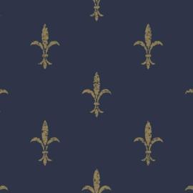 York Wallcoverings Ronald Redding 24 Karat behang Fleur De Lis  KT2191