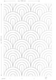 Esta Home Black & White - with a splash of gold behang PhotowallXL Wall Scales Pattern 158935
