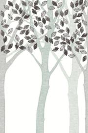 Eijffinger Wallpower Junior 364132 Grey Leaf Tree
