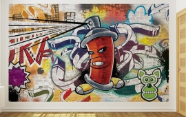 For Wall Fotobehang Graffiti 1395P8