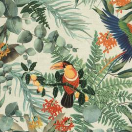 Hookedonwalls Lemuria behang Parrot 60620