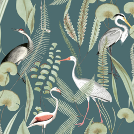 Dutch Eden behang Flamingo M37414