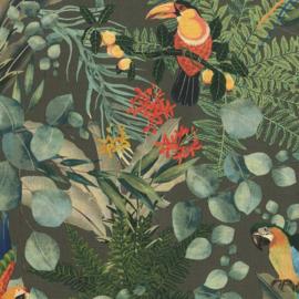 Hookedonwalls Lemuria behang Parrot 60623