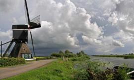 Noordwand Holland Fotobehang Vlietmolen 2880