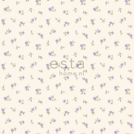 Esta Home Denim & Co. little roses purple 137702