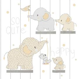 Noordwand Mondo Baby behang Olifantjes 13020