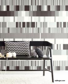 Eijffinger Stripes+ Wallpower 377201 Ulti Multi B&W